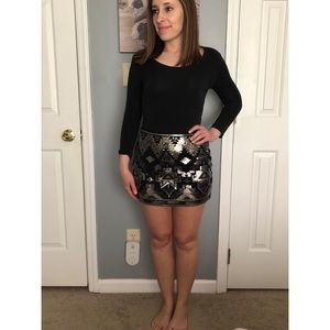 XS Express sequined mini skirt